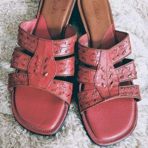 Clarks Mauve slip-on sandal